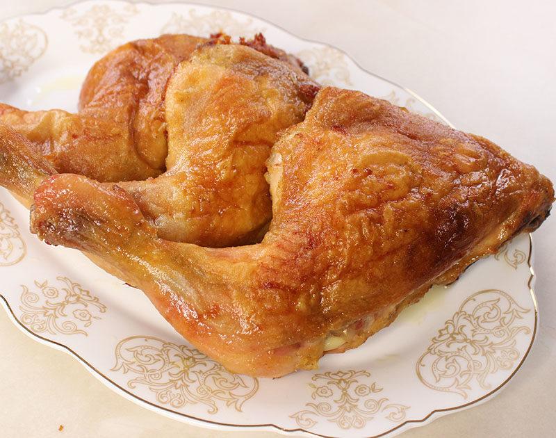 دجاج بالفرن مقرمش من الخارج وطري جدا من الداخل