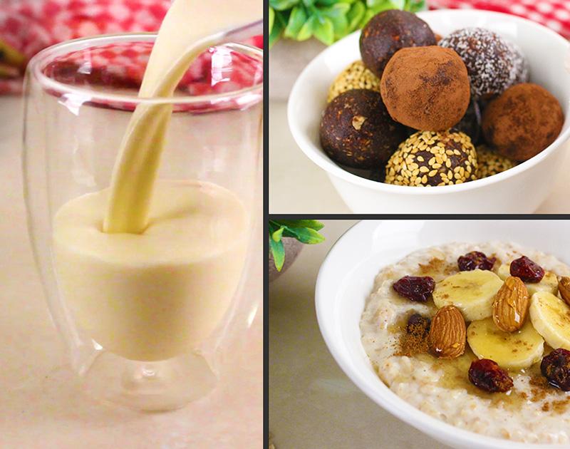بوريدج، كرات التمر، سموثي الموز